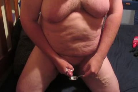 plump chap Edging And Swallowing His Own sperm