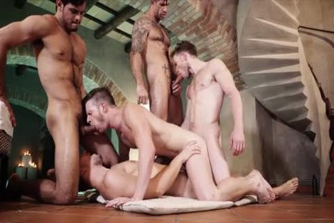 juicy gay threesome With sperm flow