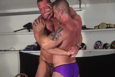 Muscle fellow And Dilf Wrestle