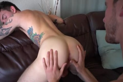 large cock gay butt job With Creampie