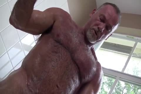 juicy Muscle Daddy Mikey Shower jerk off   cum